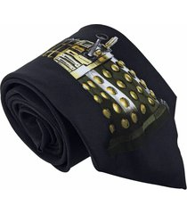 doctor who - mens 10cm polyester novelty sound activated dalek navy tie necktie