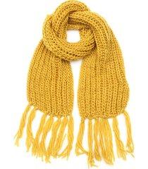 bufanda mostaza boerss lana con flecos