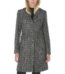 laundry by shelli segal metallic tweed walker coat