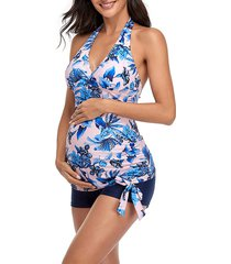 savi mom cancun two-piece maternity swimsuit, size medium in multi at nordstrom
