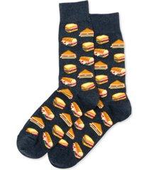 hot sox men's sandwiches crew socks