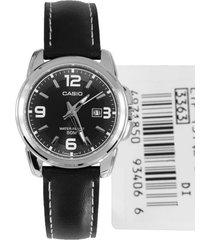 reloj casio ltp-1314l-8a- negro para mujer
