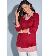 2-in-1-shirt miamoda rood