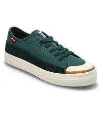 square low låga sneakers grön levi's shoes