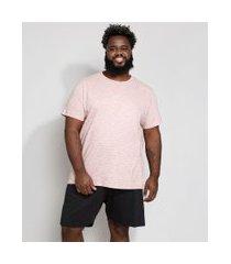 pijama masculino plus size manga curta rosa