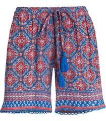 shorts in tessuto stropicciato (blu) - bpc bonprix collection