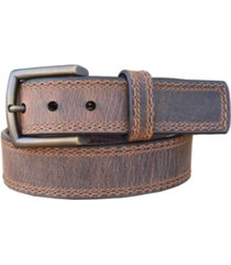 lejon men's distressed troubadour crazy horse leather casual work jean belt