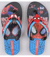 chinelo infantil ipanema homem aranha preto
