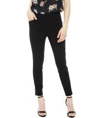 pantalón ash liso tipo calza negro - calce ajustado
