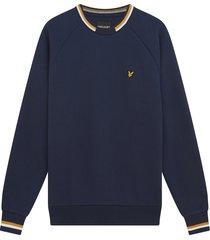 lyle and scott ml1518v lyle&scott double tipped sweatshirt, z99 navy