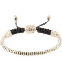 silver rondelle bead bracelet