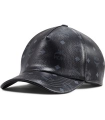men's mcm visetos logo coated canvas baseball cap -