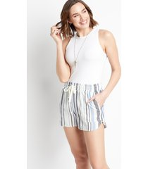 maurices womens blue stripe 3.5in weekender shorts