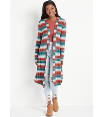 maurices womens gray ombre stripe duster cardigan