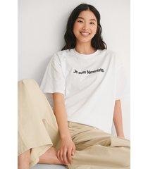 na-kd trend je suis feminist t-shirt - white