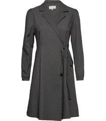 marconia wrap dress maxiklänning festklänning grå minus