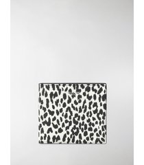 saint laurent leopard print wallet