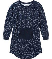camicia da notte in felpa (blu) - bpc bonprix collection