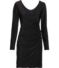 abito a portafoglio in lurex (nero) - bodyflirt