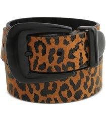 rebecca minkoff 35mm leopard-print leather belt