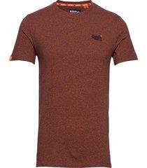 ol vintage emb crew t-shirts short-sleeved brun superdry