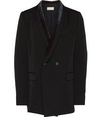 bed j.w. ford velvet shawl collar blazer - black