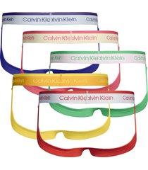 calvin klein 5-pack heren strings - pride colours