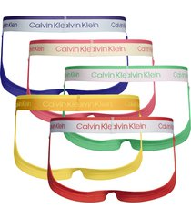 calvin klein 5-pack heren strings - pride colours
