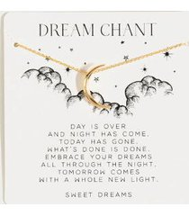 dream chant moon pendant necklace - ivory