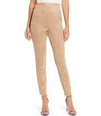 women's blanknyc faux suede leggings, size 27 - beige