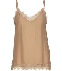 macy strap top blouse mouwloos bruin second female