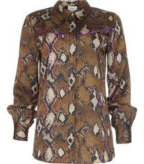 blouse met slangenprint faith  dierenprint
