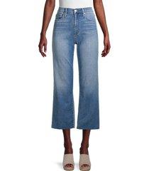 joe's jeans women's high-rise cropped wide leg jeans - blue - size 30 (8-10)