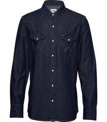 27mw icon shirt skjorta casual blå wrangler