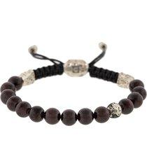 adjustable garnet and black diamond bead bracelet