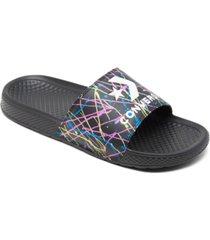converse men's chuck taylor all star paint splatter slide sandals from finish line