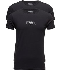 mens knit 2pack t-sh t-shirts short-sleeved svart emporio armani