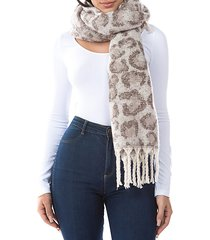 willo leopard-print plush scarf