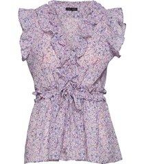 pina blouse mouwloos paars stella nova