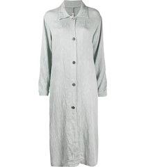 raquel allegra shirt maxi dress - blue