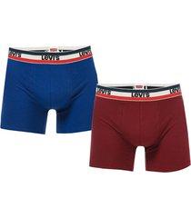 mens 2 pack sports logo boxer shorts