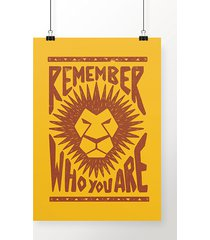 poster remember who you are