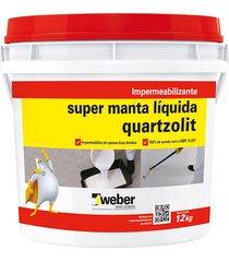 super manta líquida quartzolit, branca, 12 kg