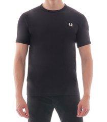 tonal taped ringer t-shirt - black m3519-102