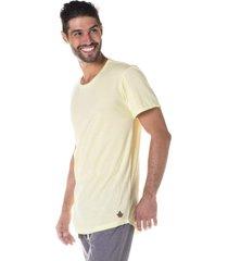 camiseta masculina alongada amarelo neon - area verde - multicolorido - masculino - dafiti