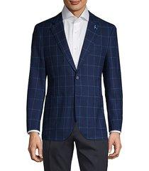 windowpane cotton blazer