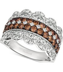 le vian 20th anniversary diamond jubilee crown ring (2 ct. t.w.) in 14k white gold, exclusively at macy's