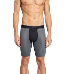 men's tommy john air colorblock boxer briefs, size small - grey