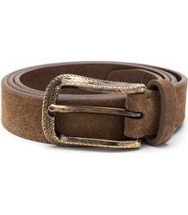 brunello cucinelli textured belt - neutrals
