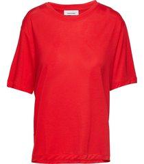 uta ss 10172 t-shirts & tops short-sleeved orange samsøe samsøe